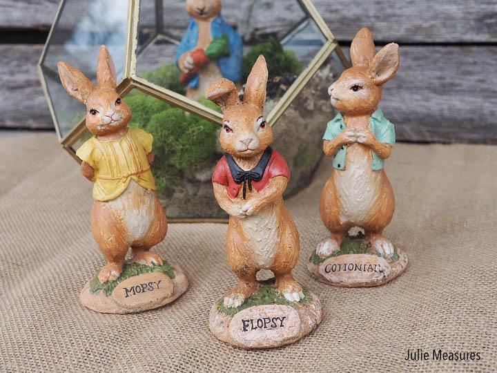 Spring Bunny Terrarium Centerpiece