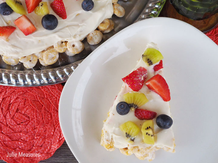 Breakfast Cereal Fruit Pizza
