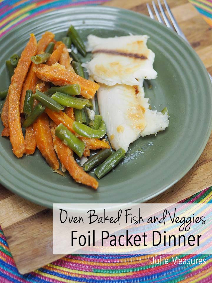 Oven Baked Fish and Veggies Foil Packet Dinner