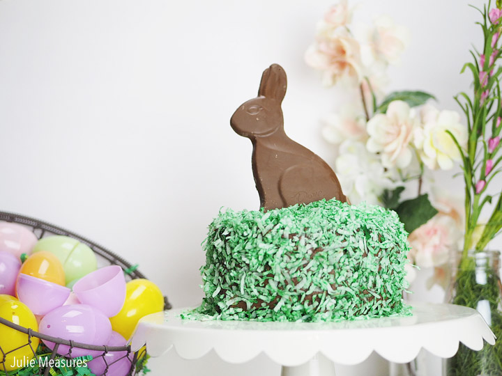 Personalized Easter Hunt Puzzle and Chocolate Easter Bunny Cake