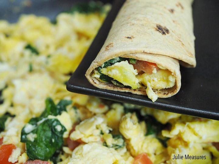 Weight Watchers scrambled egg wrap