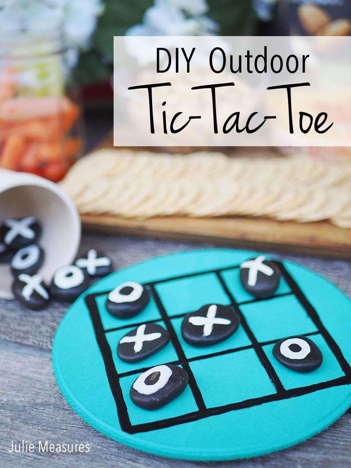 Outdoor Patio DIY Tic-Tac-Toe Game