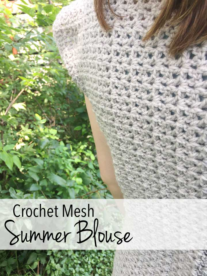 Crochet Mesh Summer Blouse