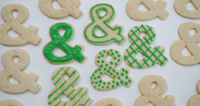 Ampersand Sugar Cookies – Using a 3D Printed Cookie Cutter
