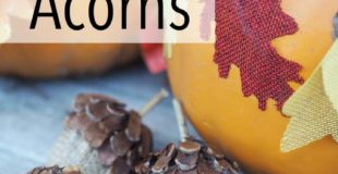 DIY Fall Acorn Decor – Made With Burlap, Pine Cones, and Easter Eggs