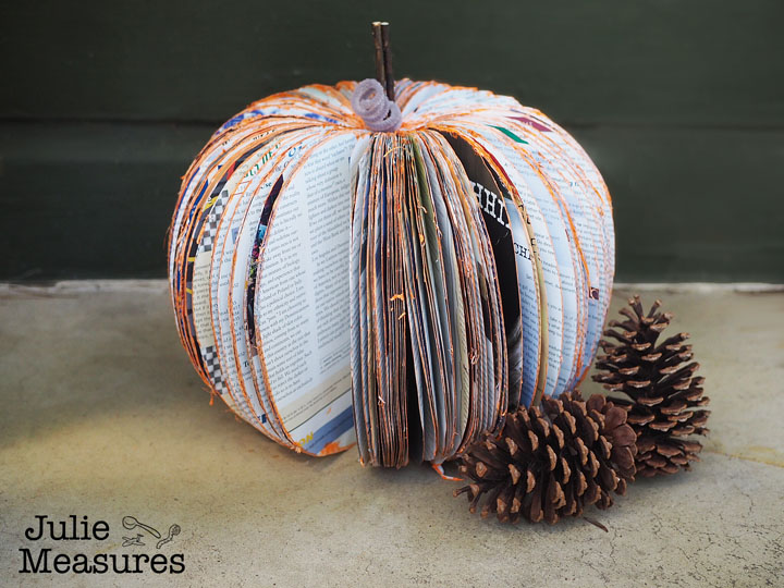 Book Page Pumpkin – Turn an Old Book into Fall Decor