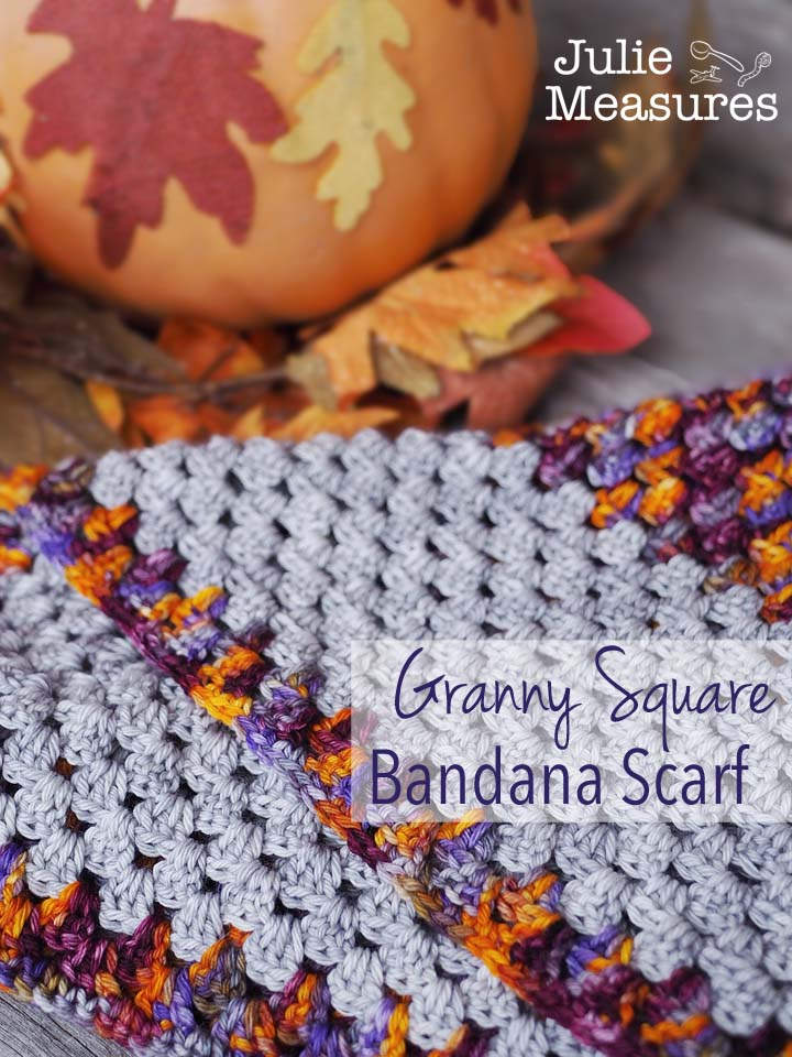Granny Square Bandana Scarf