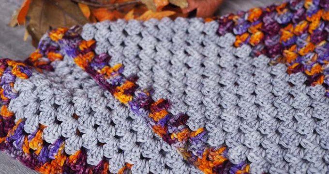 Granny Stitch Crochet Bandana Scarf