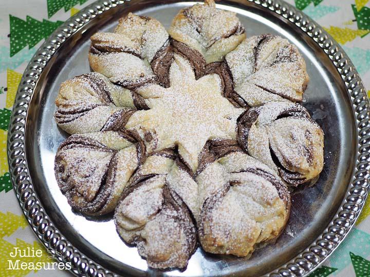 Chocolate Hazelnut Snowflake Pastry
