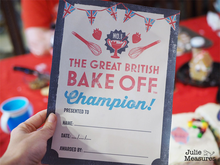 Great British Bake Off Kids Birthday Party