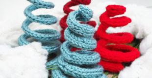 Knit Christmas Trees