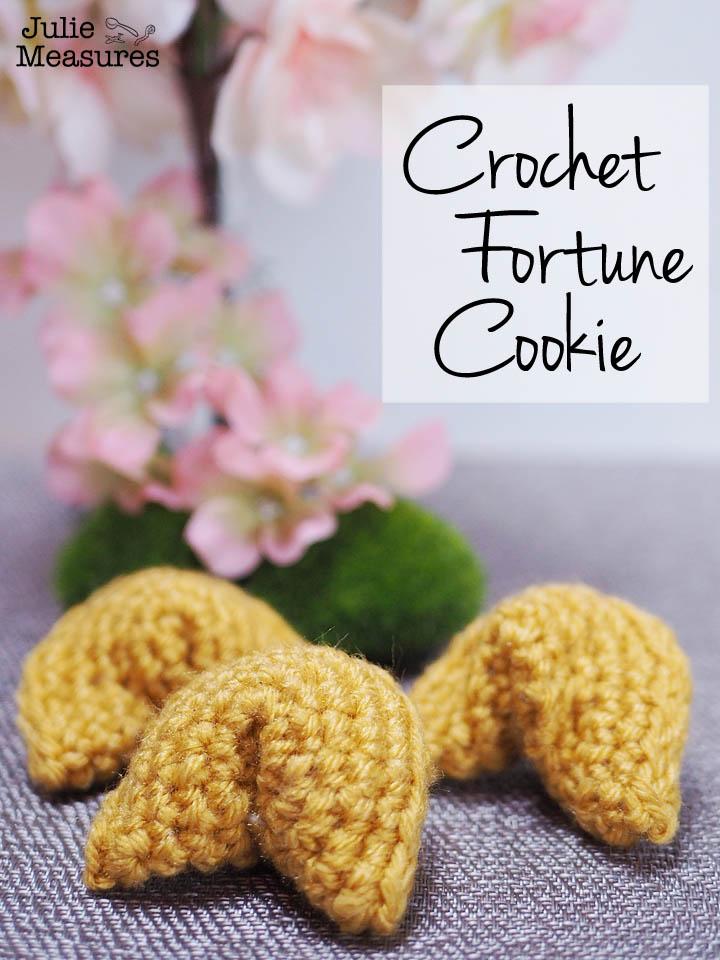 Crochet fortune cookies