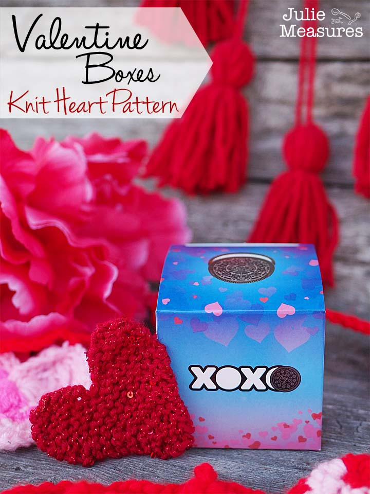 Valentine Boxes Knit Heart Pattern