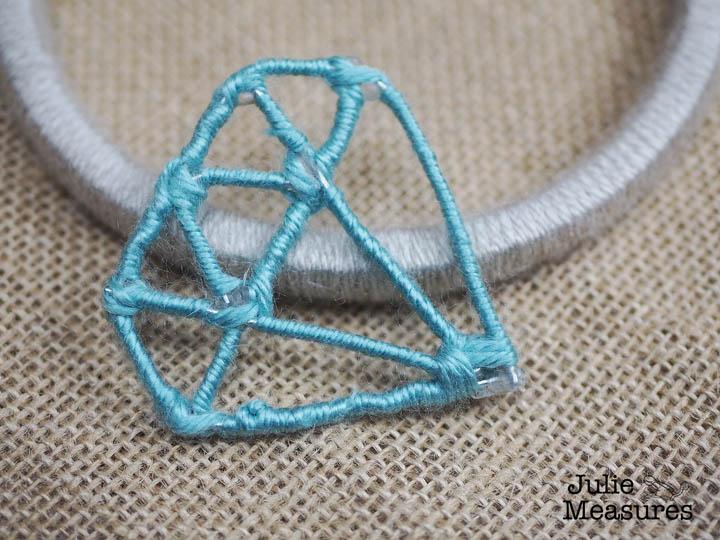 Yarn Wrapped Diamond Embroidery Hoop Art
