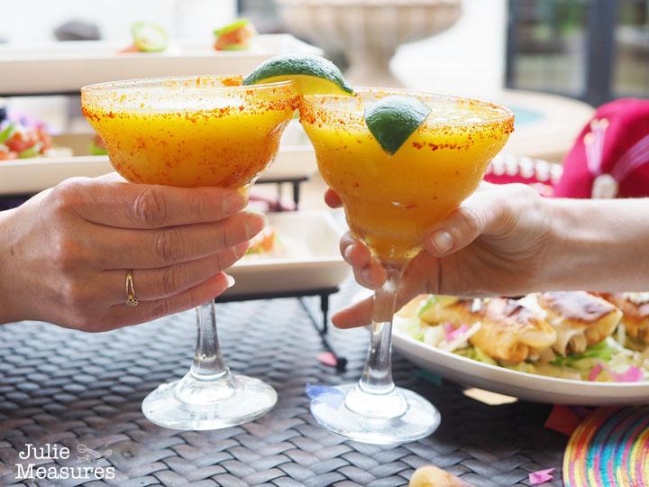 Passion Fruit Mango Margarita Mocktail