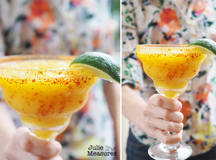Passion Fruit Mango Margarita Mocktail