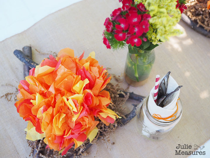 Campfire Party Centerpiece