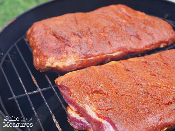 Slow Grilled Pork Ribs
