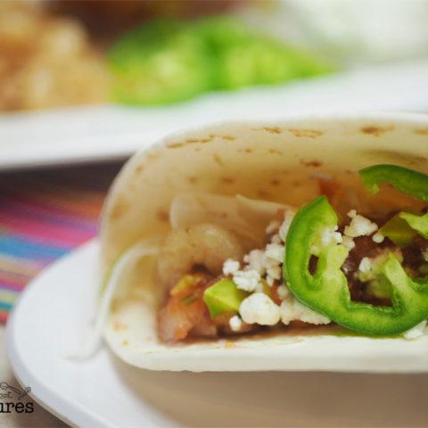 Spicy Shrimp Tacos and Homemade Avocado Salsa