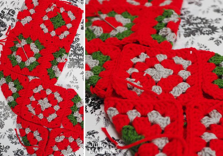 Granny Square Crochet Christmas Stocking