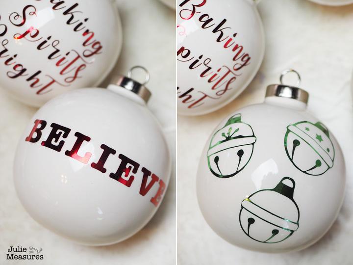 Believe Vinyl Christmas Ornament