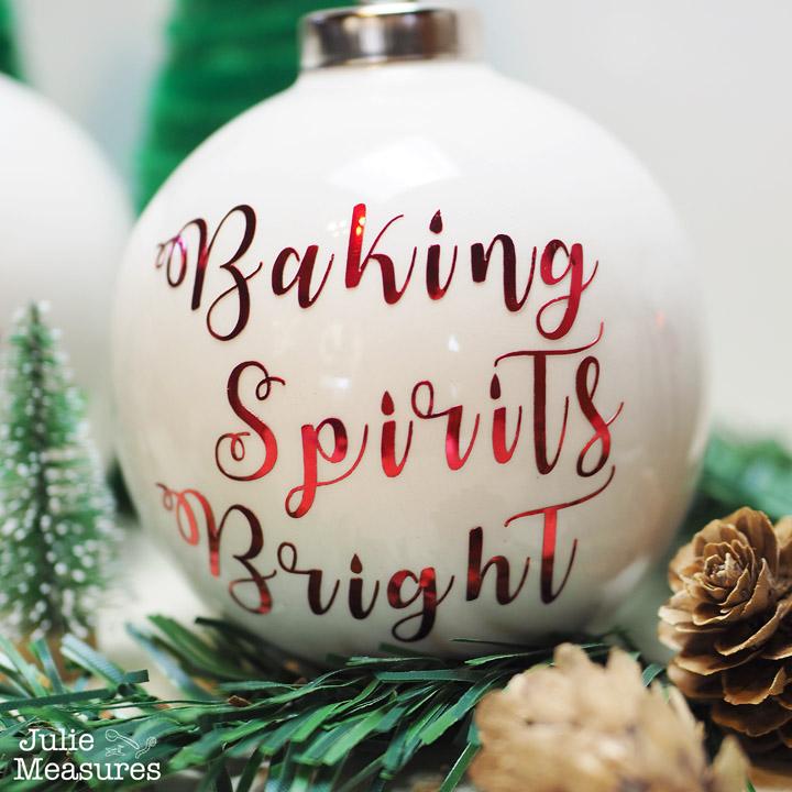 Baking Spirits Bright Vinyl Christmas Ornament