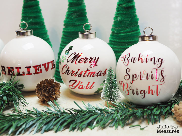 DIY Vinyl Christmas Ornaments