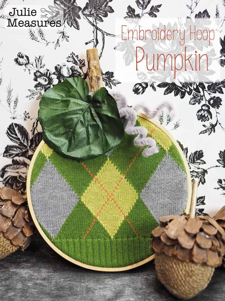 Embroidery Hoop Pumpkin