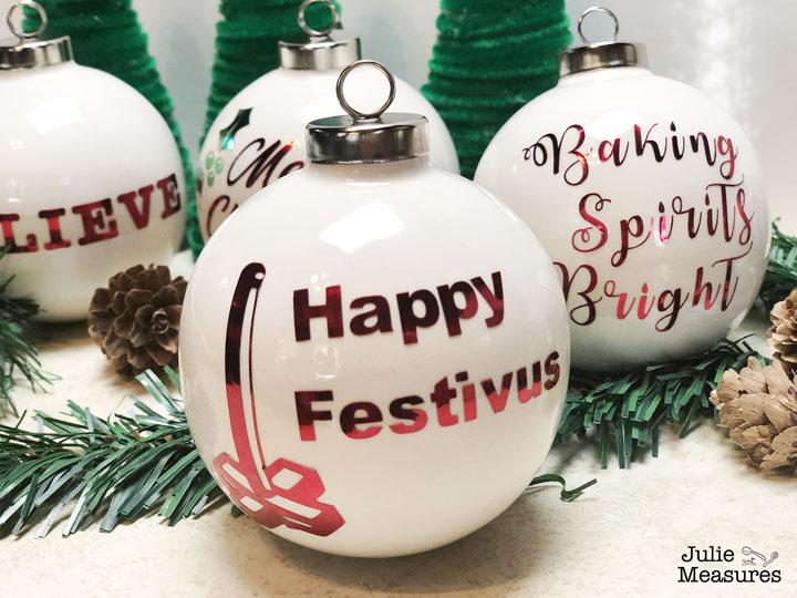 Happy Festivus Vinyl Christmas Ornament