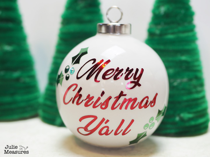 Merry Christmas Y'all Vinyl Ornament