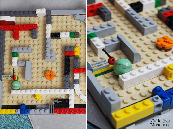 DIY Mini Brick Marble Maze