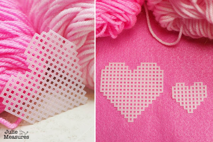 plastic canvas heart