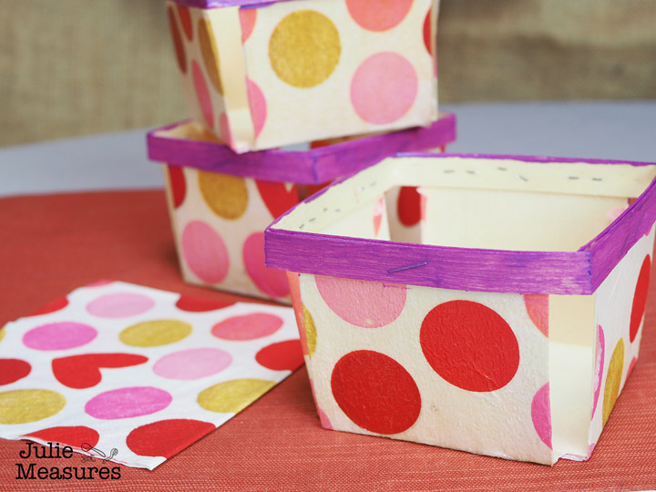 mod podge baskets