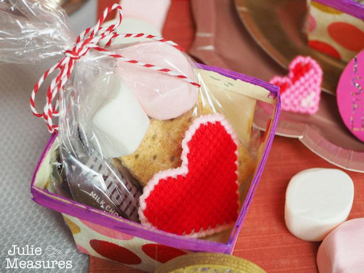 S'mores Valentine basket