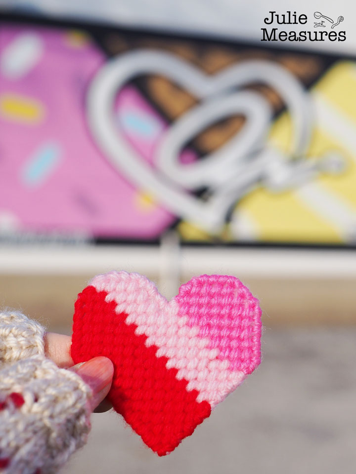 Plastic Heart Canvas Valentines Day