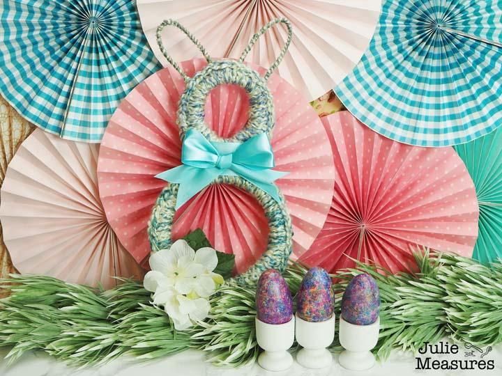 Easter Bunny Crochet Hoop