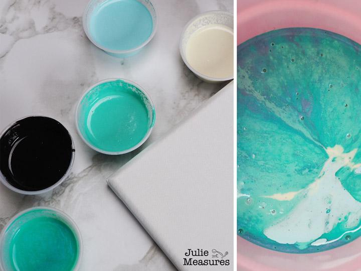 Paint Pouring Canvas DIY