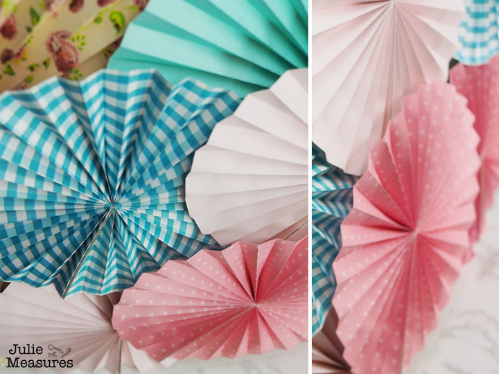 Paper Fan Wall Backdrop DIY