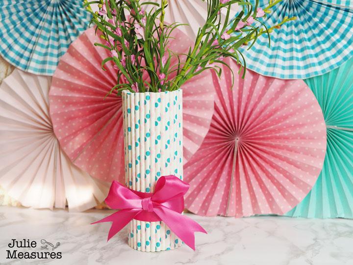 Paper Straw Vase DIY