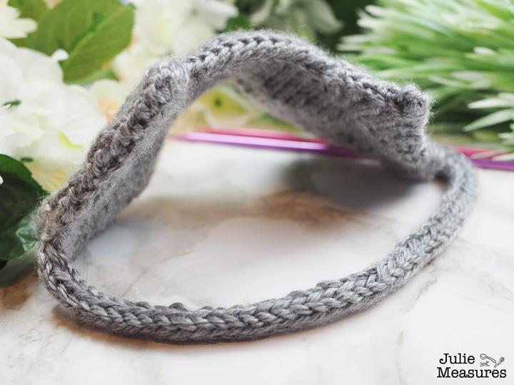 sleepy cat knit sleep mask
