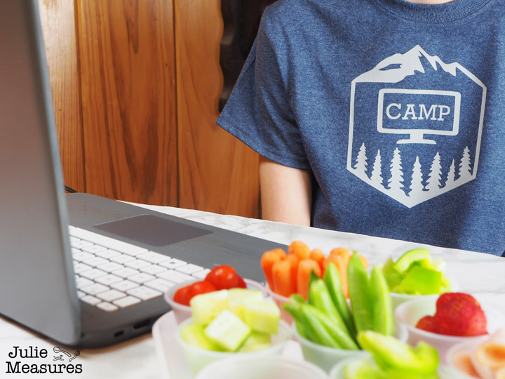 DIY virtual summer camp shirt