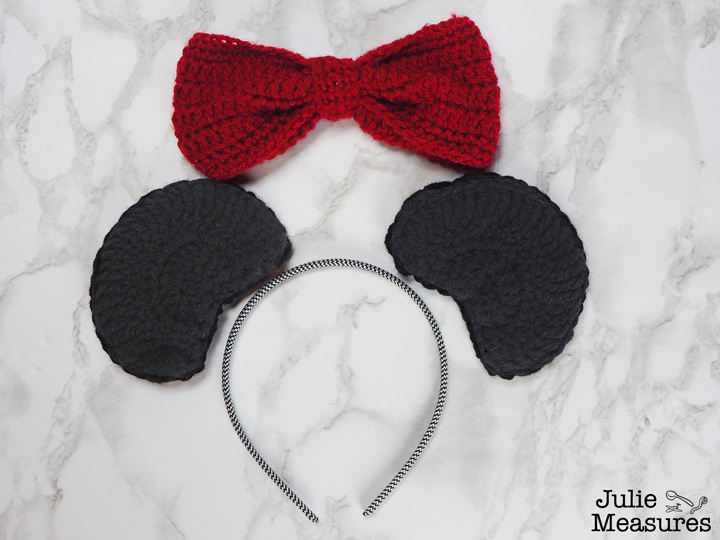 Crochet Minnie Mouse Ears Headband