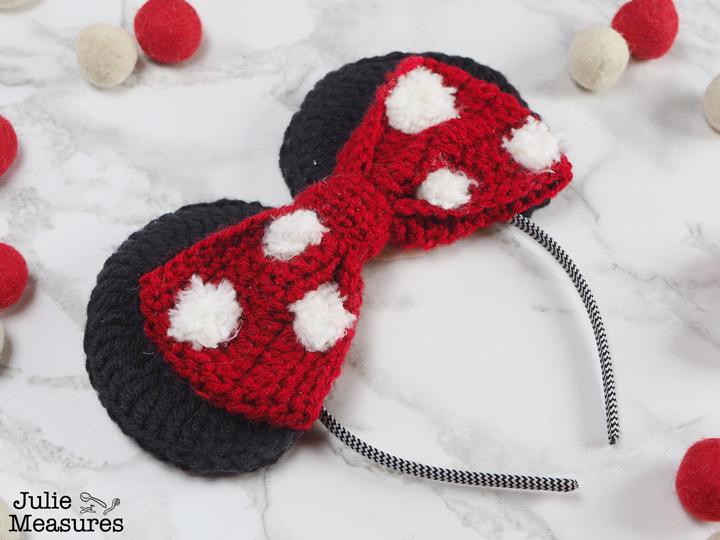 Crochet Minnie Mouse Ears Headband