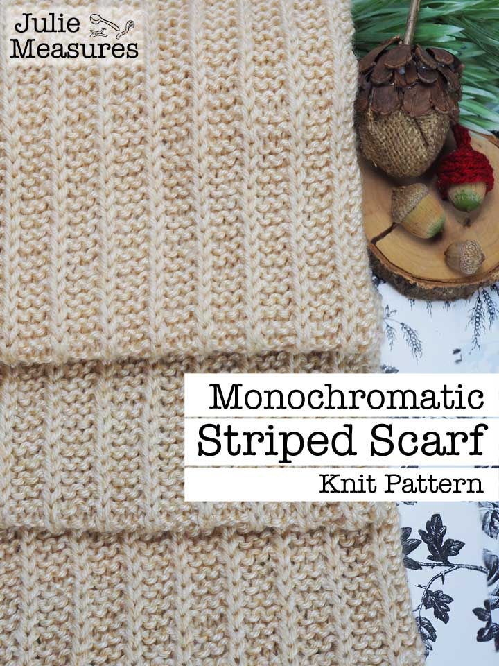monochromatic striped scarf knit pattern