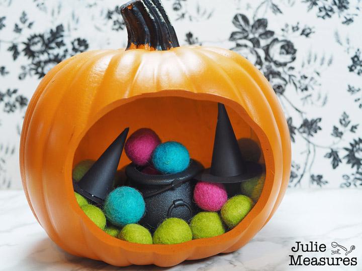 Halloween Pumpkin Terrarium