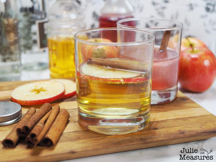 Spiced Apple Cider Mocktail and Sparkling Cranberry Cinnamon Mocktail