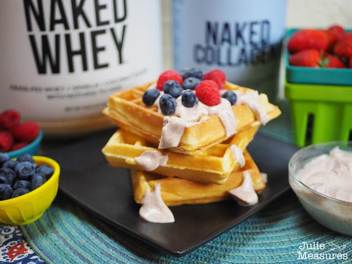 Protein Breakfast Waffles