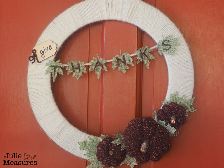 Give Thanks Thanksgiving Wreath