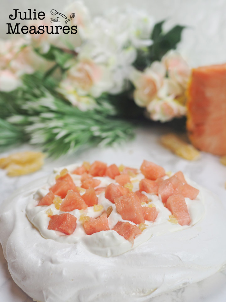 Pineapple Ginger Pavlova Recipe