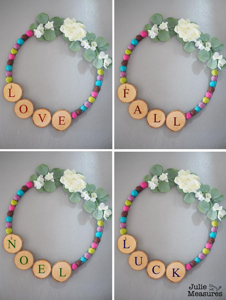 how to make Hoop Wreaths